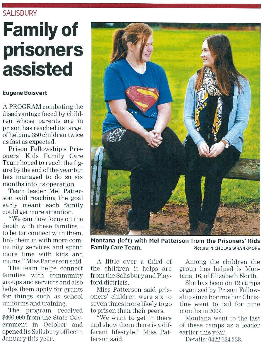 PK-Family of Prisoners Assisted-Northern Messenger-31Jul14