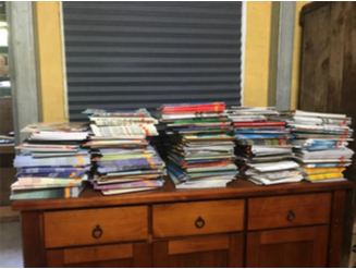 250 new books bought for Story Dogs teams in SA with a UCF grant!