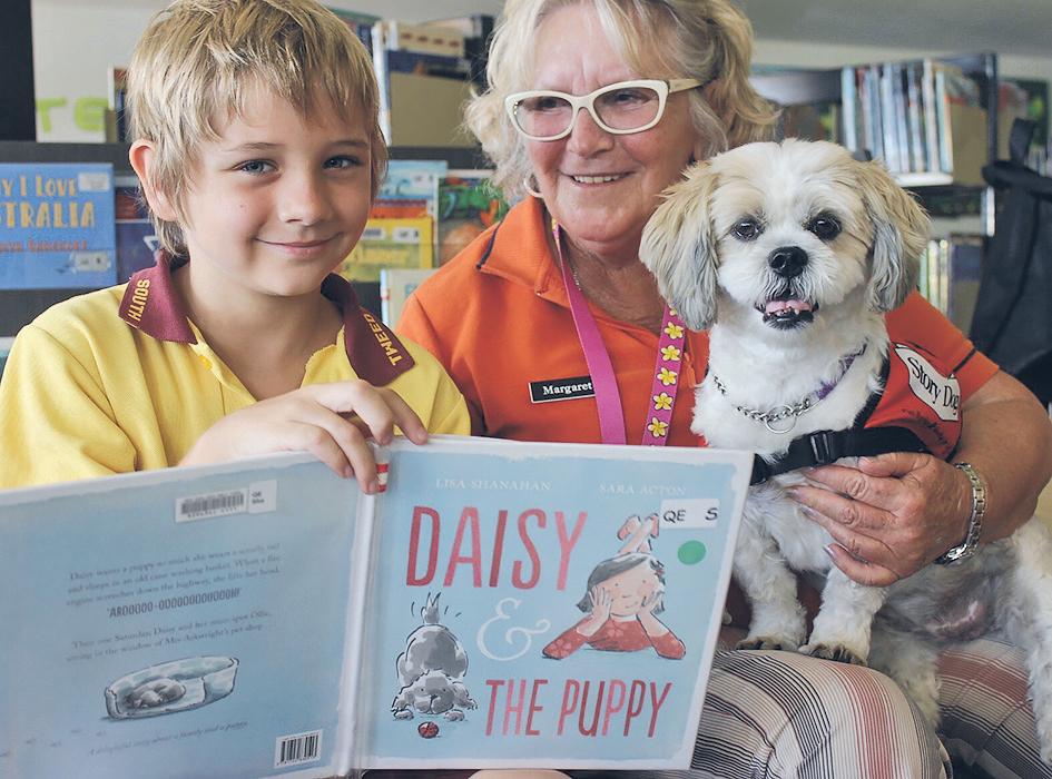 daisy-dog-reading
