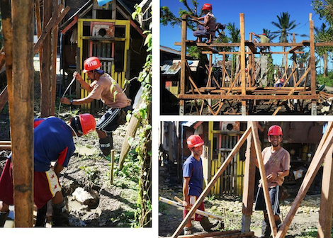 YPDR building houses after Typhoon Ruby